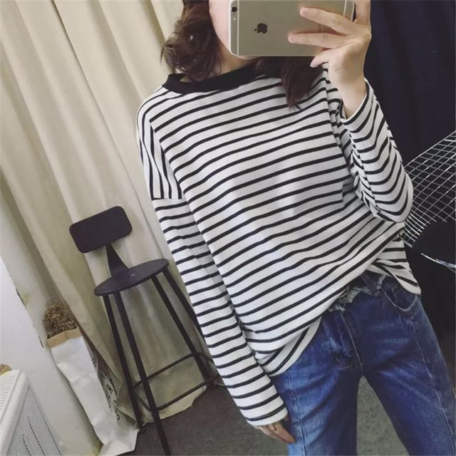 Casual Stripy Long Sleeve