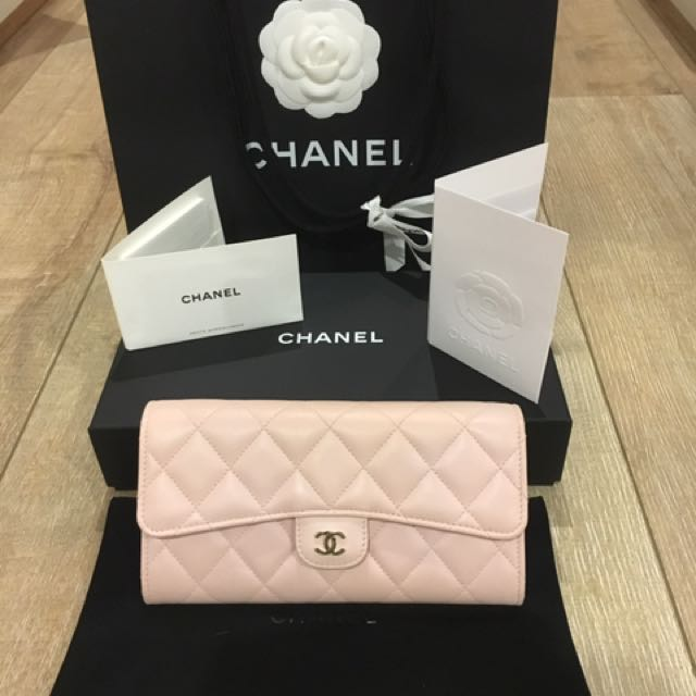 Chanel baby pink purse