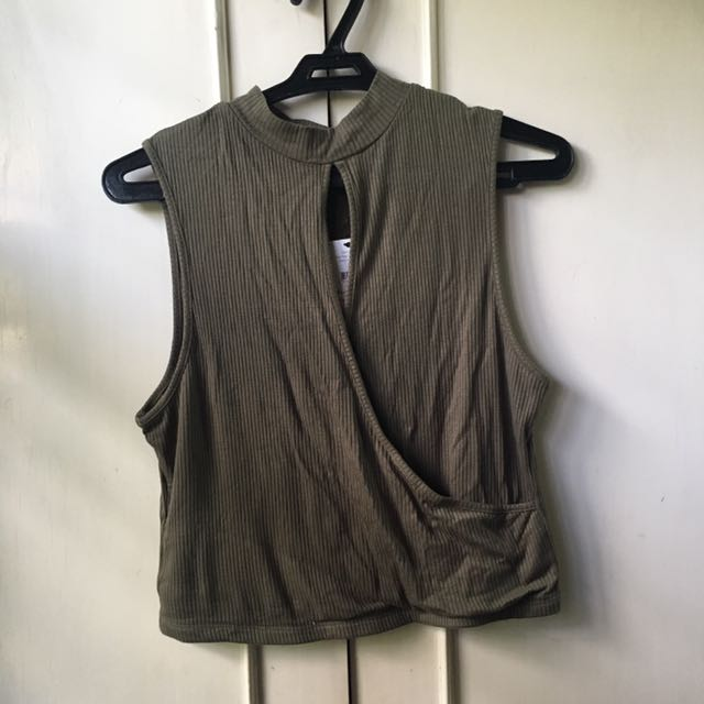 Cotton on army green top