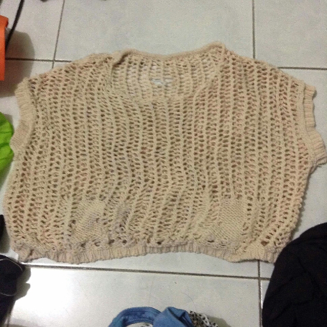 Cover Up Cropped Top