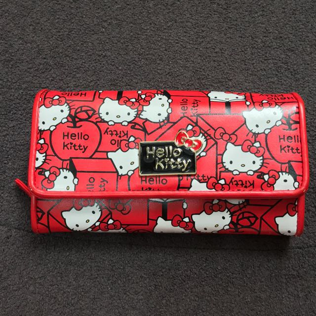 DOMPET HELLO KITTY ORIGINAL SANRIO RED APPLE WALLET