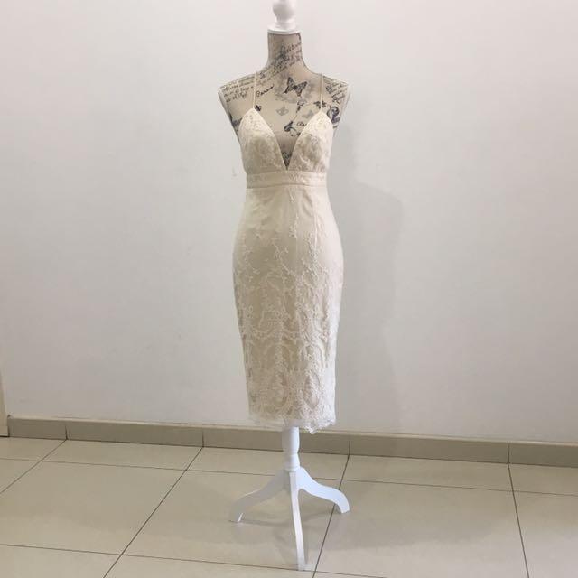 Elle Zeitoune Nude Dress