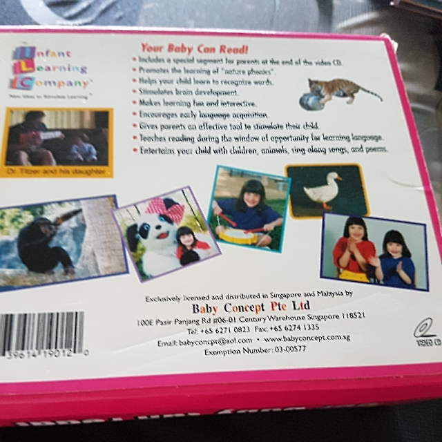 english reading training your baby can read educational vcds