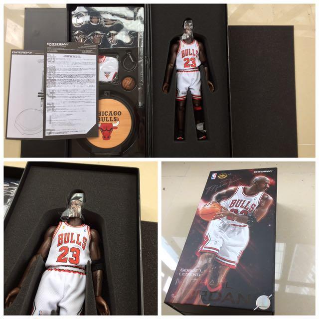 b11b6d39683d Enterbay Michael Jordan 1 6 Figure hk-kicks 10th Year Anniversary Edition