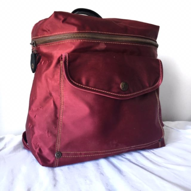 Esprit Vintage Dark Maroon Red Mini Backpack
