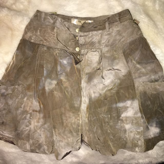European Style Army Green Skirt Size S