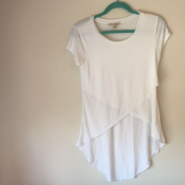 EXPRESS white t-shirt