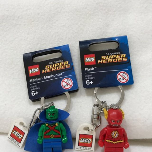 Flash & Martian Manhunter Lego Keychain