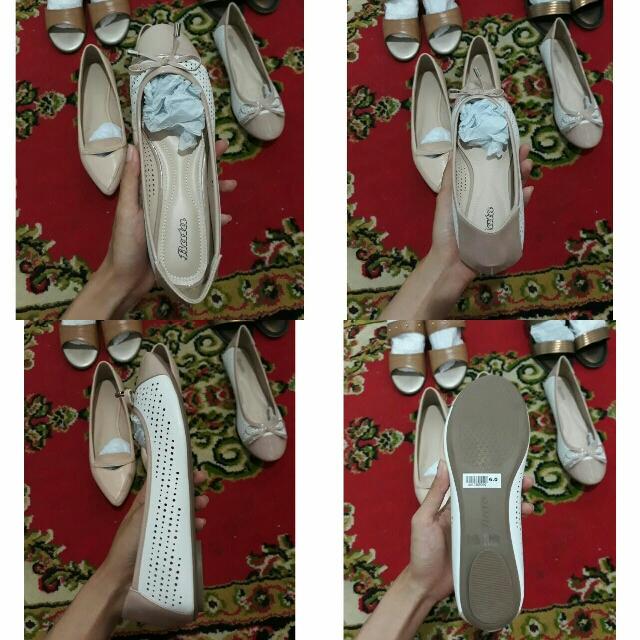 Flatshoes Bata Brown X White