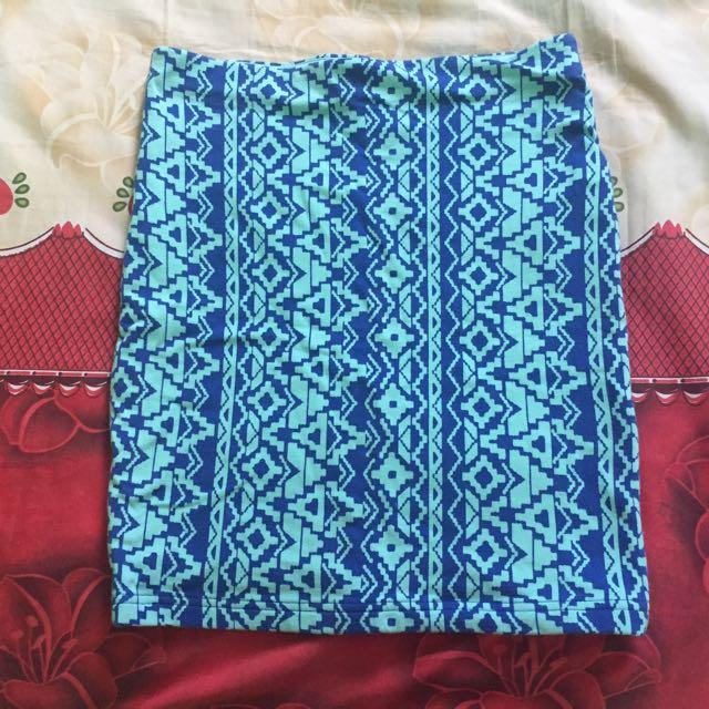 Forever 21: Bandage Span Skirt (Rok span bandage) Tribal