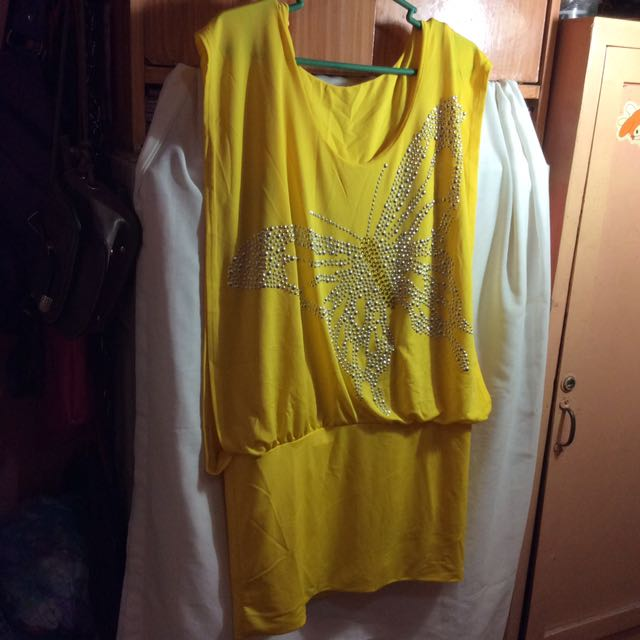 Freesize Yellow Dress
