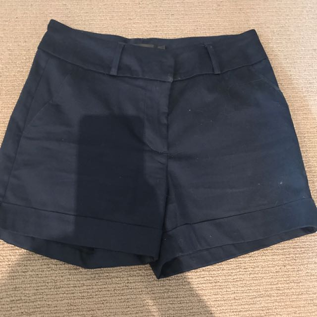 Glassons Navy Tailored Shorts