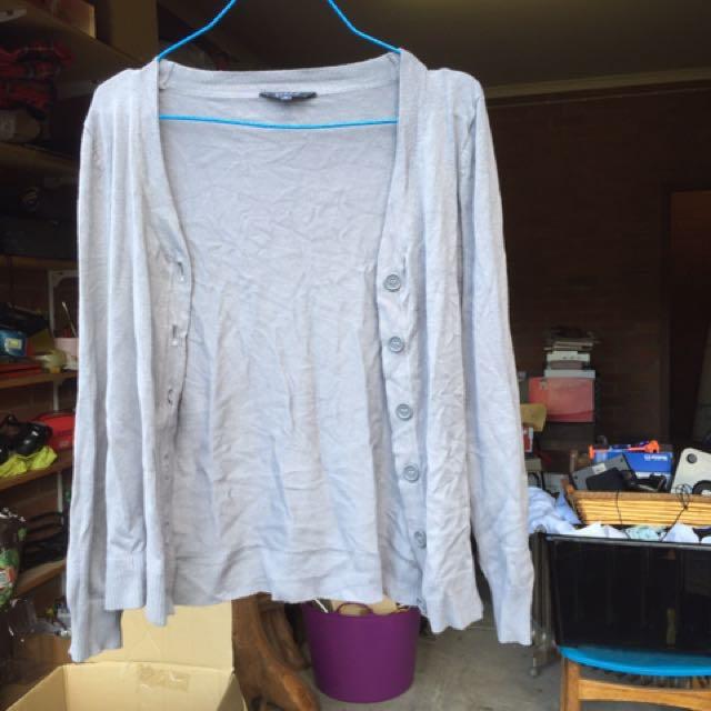 Grey cardigan size 8