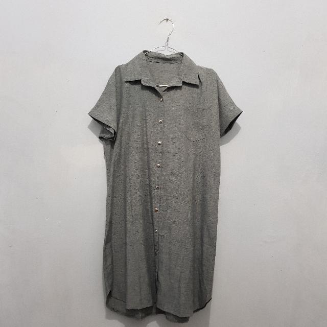 Grey Tunic Dress LD 102cm
