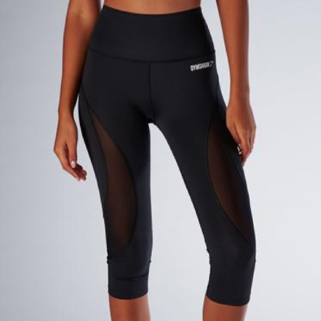 23a58f45c5a80e Gymshark Women's Fusion Cropped Leggings (Black, Size S), Sports, Sports  Apparel on Carousell