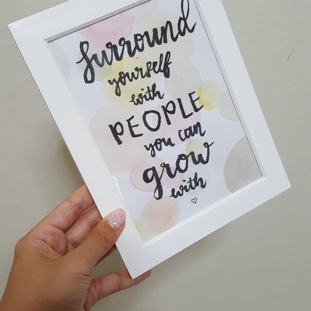 Hand Painted Calligraphy Quotes With Frame, Design & Craft, Handmade ...