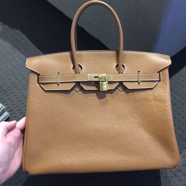 Hermes Birkin Tan Bag Replica