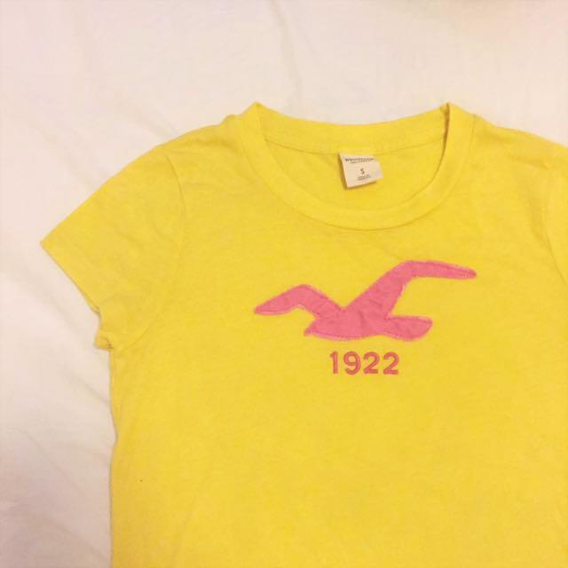 全新Hollister黃色短袖上衣