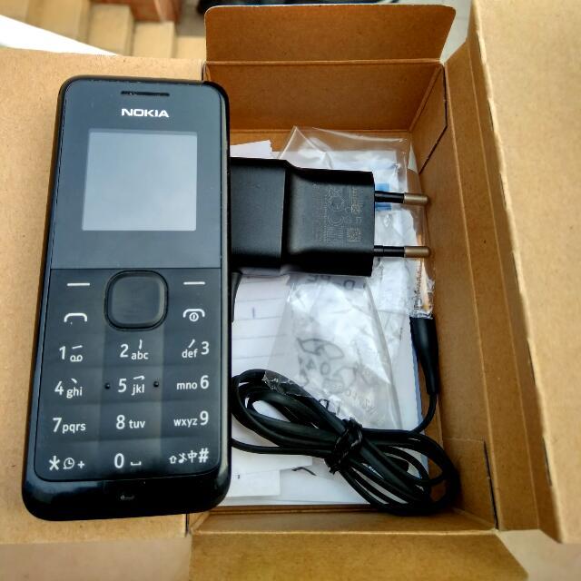 HP Nokia Senter 105 Warna Hitam VVGC