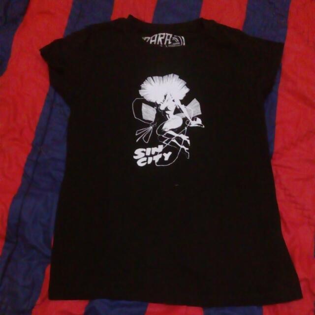 Kaos Zara Sin City Size M