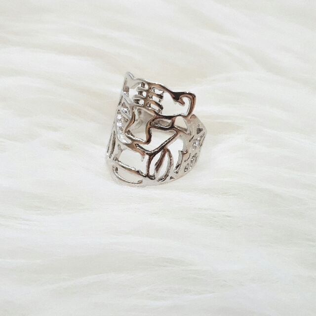Kenzo Inspired Silver Cut Out Ring