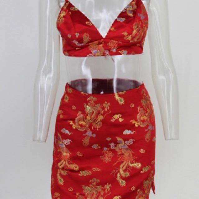 Kimono Silk look Set