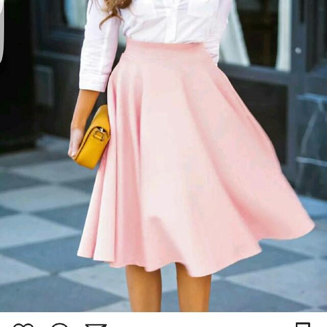 Long Baby Pink Skirt