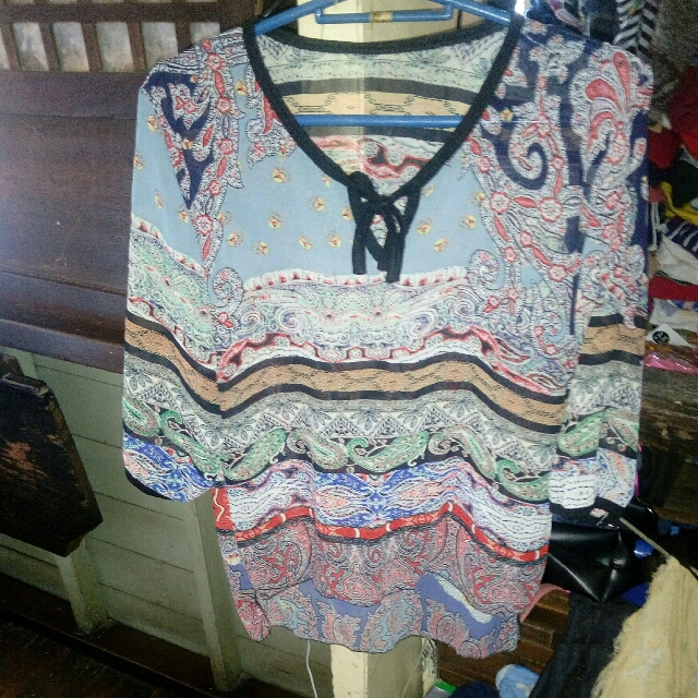 Long Back Printed Blouse