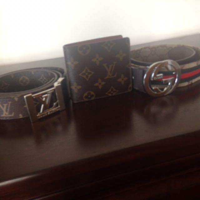 Louis Belt/wallet & Gucci Belt