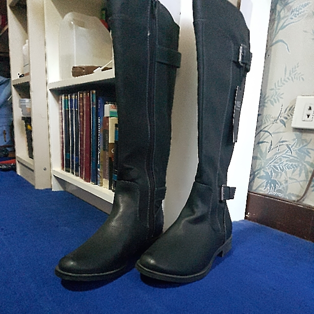 FREE SHIPPING - Marks And Spencer Black Knee High Boots