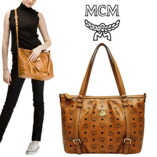 6fde7d4280 MCM Visetos Vintage Medium Shopper Bag