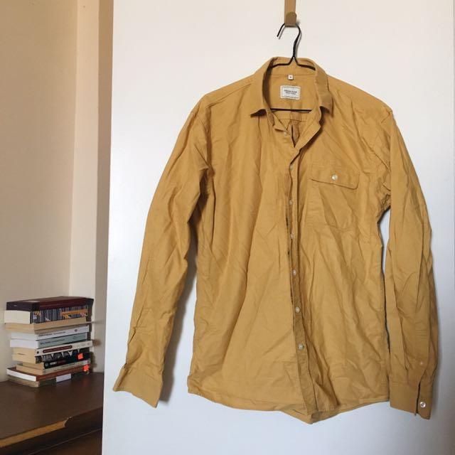 Mustard Button Down Shirt
