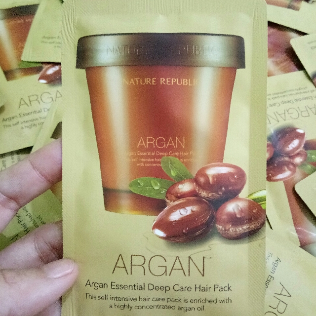 nature republic argan essential deep hair pack