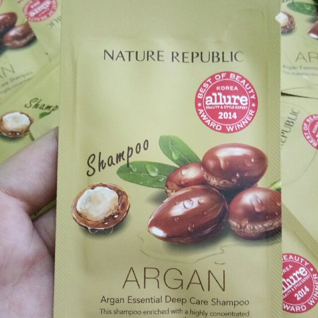 nature republic argan essential hair shampoo