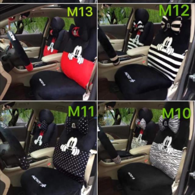 New 18 In 1 Mickey Minnie Mouse Car Seat Cover Auto Accessories Others On Carousell