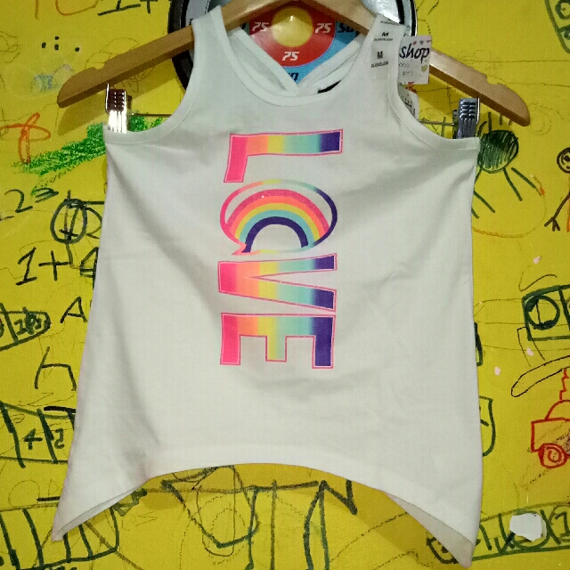 NEW ARRIVAL TANKTOP ANAK BRAND : PLACE SIZE : M/7-8T (ready 2pcs)