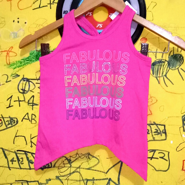 NEW ARRIVAL TANKTOP ANAK BRAND : PLACE SIZE : XS/4T (ready 2pcs)