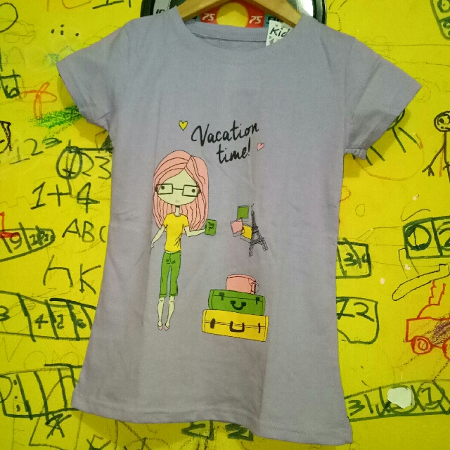NEW ARRIVAL T-SHIRT ANAK BRAND : POPSCL SIZE : 6T (ready 2pcs)