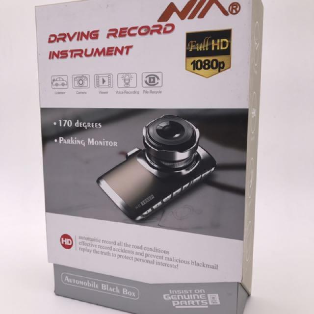 NIA GT3000 Full HD 1080P 170 Degree Automobile Black Box DVR Dashcam Carcam Dash Car Camera (Black)