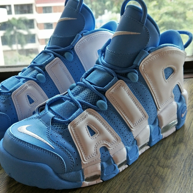 19c73c0399 Nike Air More Uptempo 96 UNC, Men's Fashion, Footwear, Sneakers on Carousell