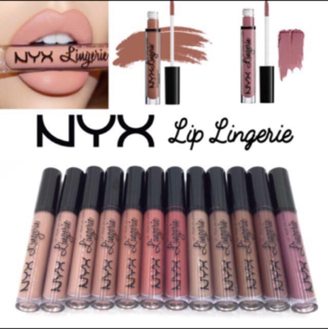 NYX lingerie lipcream colour drama - Matte & Waterproof per box