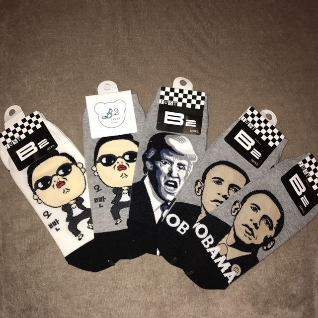 Obama, Trump & PSY socks