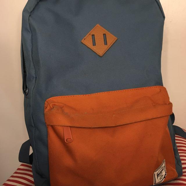 ORIGINAL Blue & Orange Herschel Bag