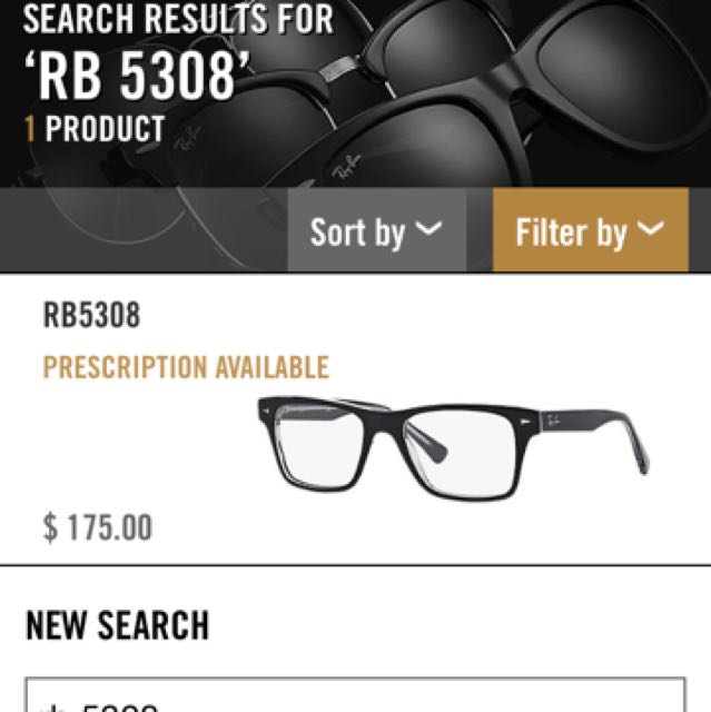 Original Rayban Prescription Frames Rb5308, Men\'s Fashion ...