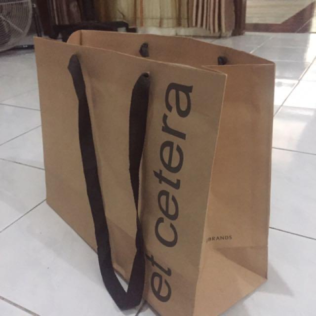 Paper bag paperbag et cetera