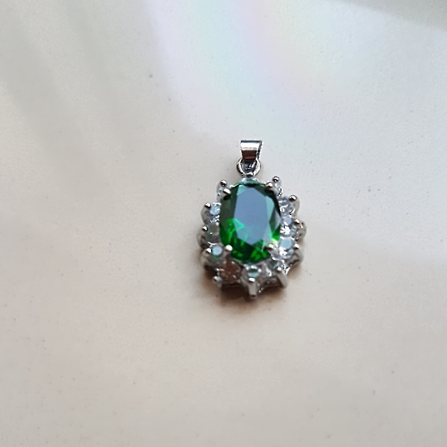 Pendant Lady Diana Green