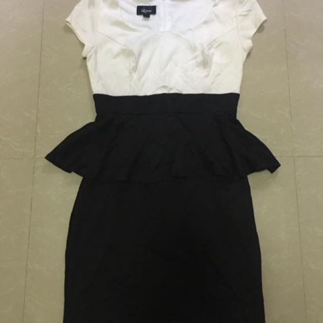 Peplum Black And White