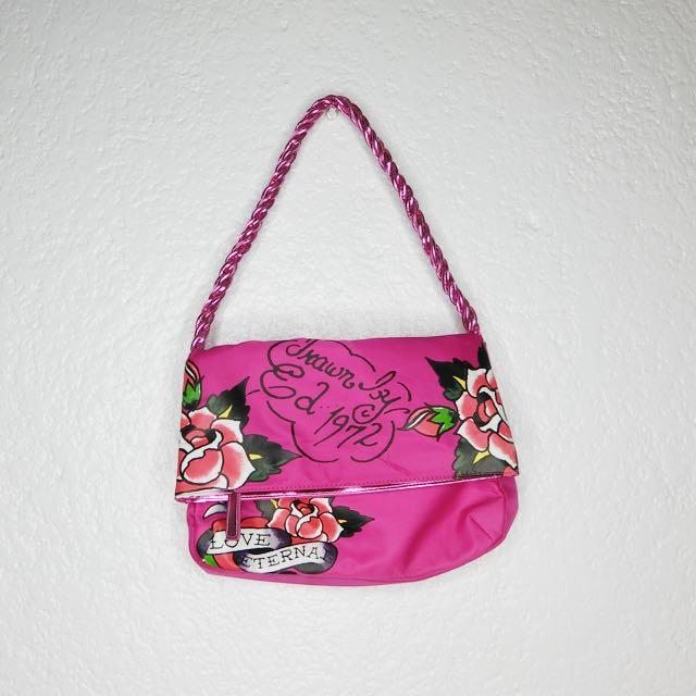 Pink Ed Hardy Shoulder Bag 21d7fb2b2f5ed