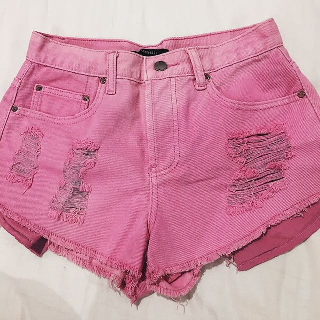 Pink High-waisted Forever 21 Shorts