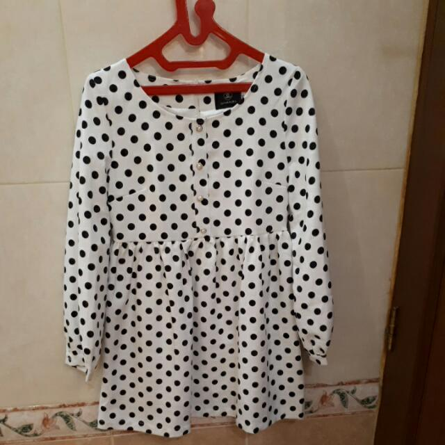 Polkadot Babydoll Chanel Dress